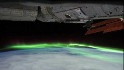 Серевное сияние - вид из космоса