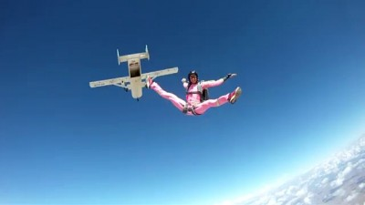 Daphny Morali wish to be a world champion skydiver