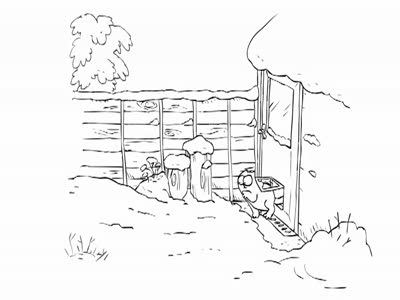 Simon's cat - snow business