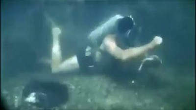 Как Путин поймал щуку, сьемки под водой.