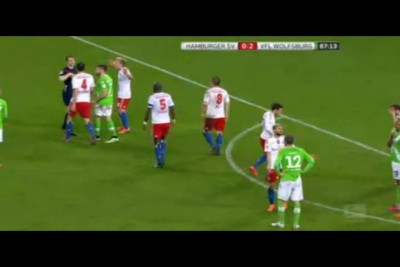 HSV - WOL 0-2 red card (HSV)