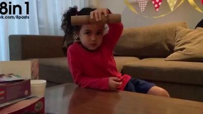 Очень меткая маленькая девочка точно бросает предметы / The hug life chose me - Trick shots