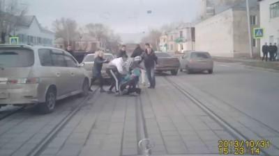 Избиение водителя в Барнауле