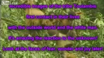 Туземцы впервые увидели белого человека