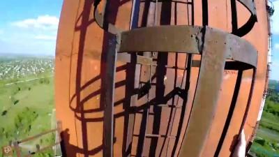 Руфинг в Омске. Труба ЗЗАГ (95 м)