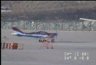 Самолет сдуло