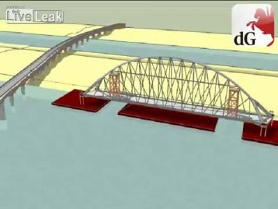 2. Строительство моста Де Overloop в городе Неймеген.Нидерланды