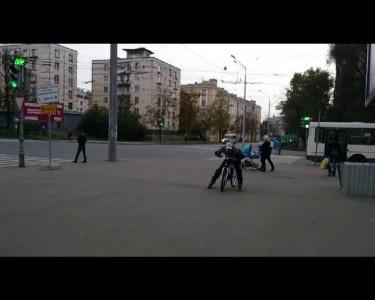 Велороллер - на ролика на велосипеде