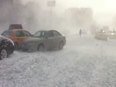 Нью-Йорк после снежной бури