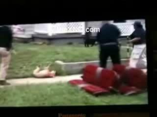 Питбуль атаковал полицейского