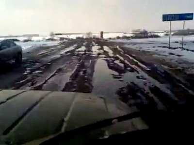 Трасса Уфа-Белорецк 28.03.2013