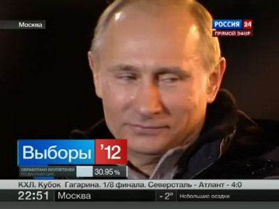 Путин плачет от счастья на Манежке
