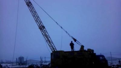 Скоростной демонтаж крана КС-4361