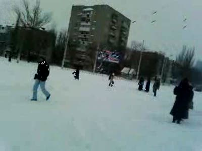 Снег в Луганске
