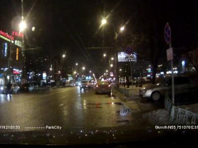 Q7 и пешеход