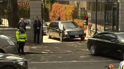 Автомобиль Обамы застрял