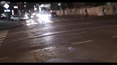 Байкер сбил пешехода
