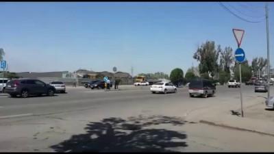 В Алматы рухнул мост транспортной развязки