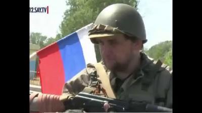 Интервью добровольца из России на блокпосту в Луганской области