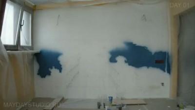 Художественная роспись стены