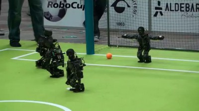 Robot Soccer Goes Big Time
