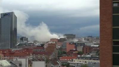 Eksplosjon i regjeringskvartalet. Explosion Oslo - Terror attack