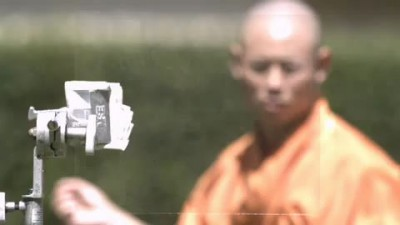 Shaolin Monk Throwing Needle Through a Piece of Glass 2