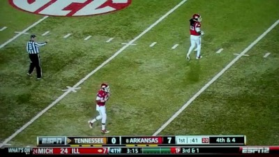 Joe Adams Punt Return Kick For Touchdown TD Run - Tennessee vs. Arkansas