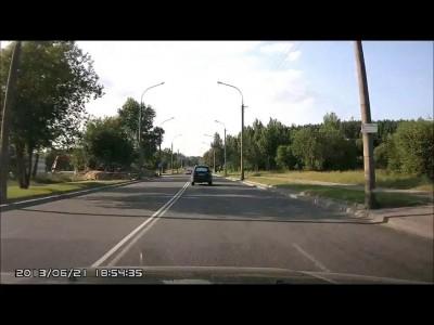 Авария с байкером в Минске