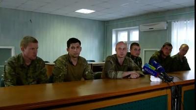 Славянск обстрел пленные солдаты АТО дали интервью журналистам