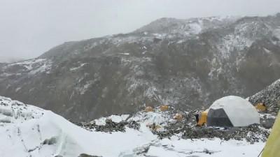 Видео лавины с Эвереста