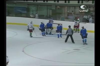 1st ever goal in Algerian ice hockey - Hakim Boukhaloua