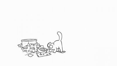 Кот Саймона и липкая лента