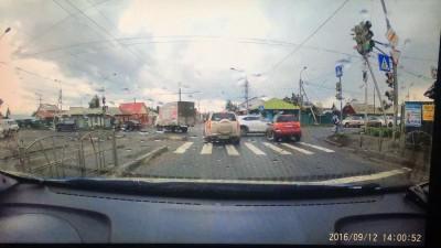 ДТП на пересечении улиц Орджоникидзе и 7-я Северная.