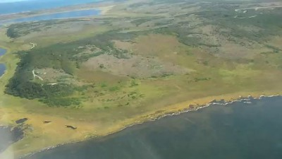 island Sakhalin, the city of Okha and surroundings (Helicopter)