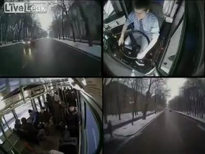 Автобусная авария где то в России
