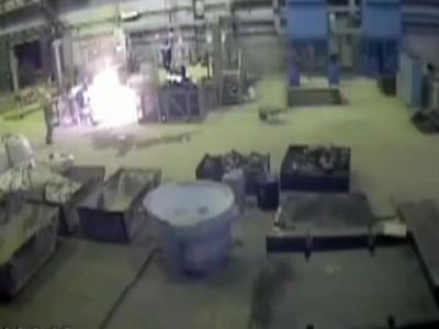 """Взрыв плавильной печи """"Электросталь"""" German smelter blast in Russia"""