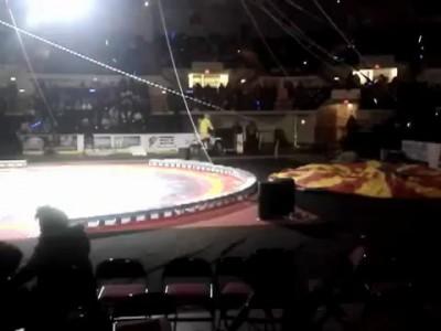 Неудачный трюк в цирке