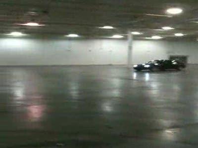 Дрифт  в подземном гараже