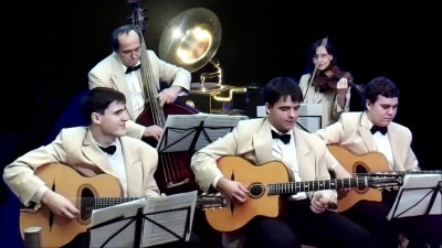 Minor Swing (D.Reinhardt, S.Grappelli). Саратовский джаз-оркестр Ретро п/у Никиты Духовникова. Солис