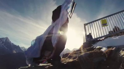 World's First Wingsuit High Five