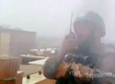 Сирийская армия, перестрелка на блок посте