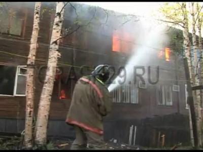 В Архангельске сгорели 9 жилых домов