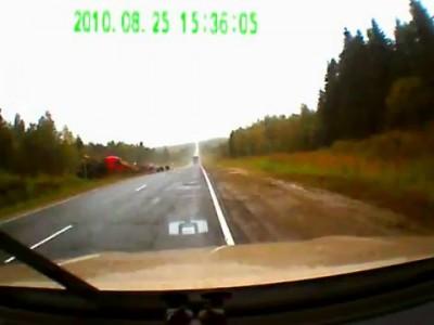 Трасса Новая Ладога - Санкт-Петербург авария