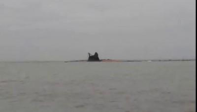 Извержение вулкана в Азовском море 25.10.2015 г. (Краснодарский край)