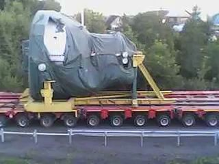 Перевозка паровой турбины (масса 203,31 т)