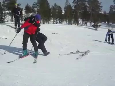 Five Friends Fall On Faces