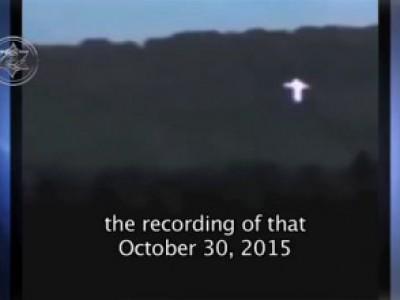Крестообразный НЛО над Крымом