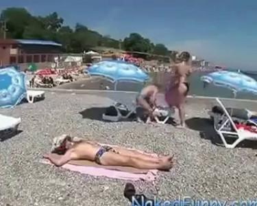 Происшествие на пляже :)
