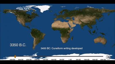 Появилось видео с рождением и смертью городов за 6 тысяч лет